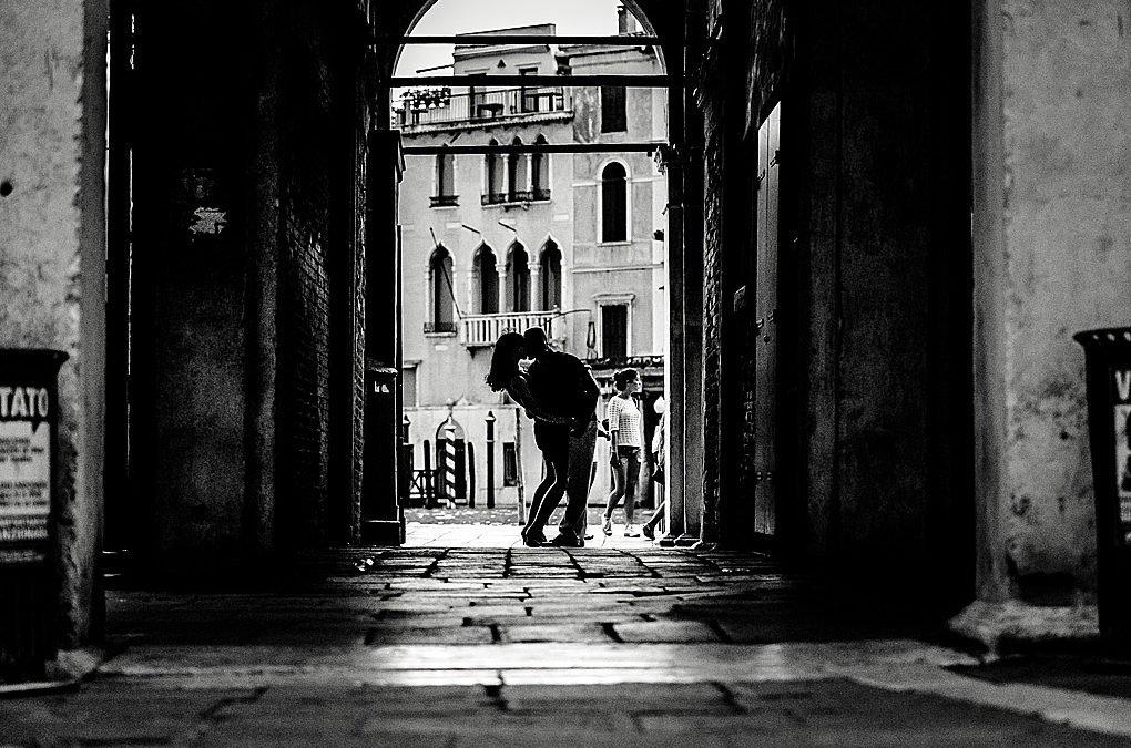 Paar-Shooting in Venedig