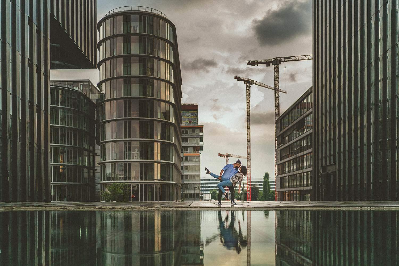 Paar-Shooting-Düsseldorf-Fotograf-Mediahafen