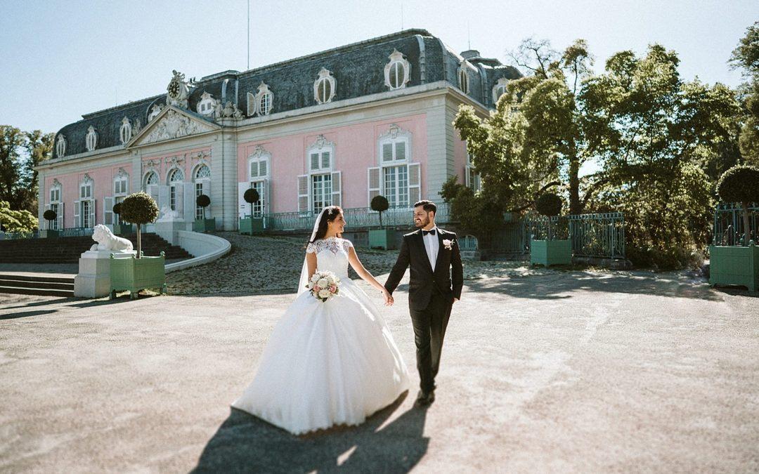 Brautpaar-Shooting Schloss Benrath
