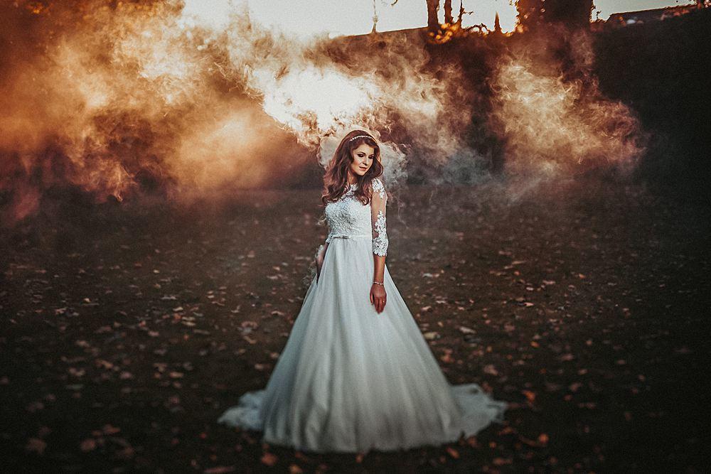 Rauch Hochzeit Fotograf-rauchbombe